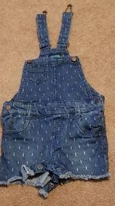Toddler Girls Denim Overalls